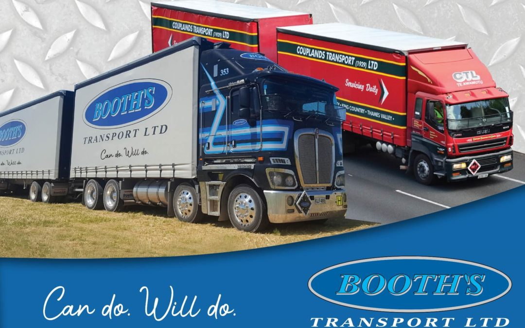 Booth's Transport Ltd expand further into the Waikato and Auckland regions